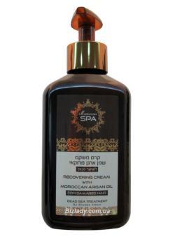 Восстанавливающий крем для поврежденных волос Масло Аргана / 250 мл / Shemen Amour