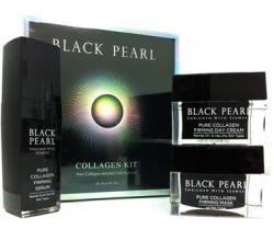 Коллагеновый набор для лица серии Black Pearl