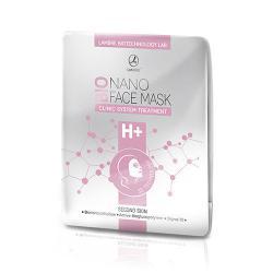 BIONANO FACE MASK H+ бионаноцеллюлозная маска для лица с активатором, содержащим гиалуроновую кислоту Lambre