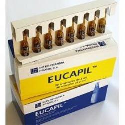 Эвкапил - для лечения облысения и выпадения волос у мужчин и женщин / EUCAPIL /30ампулх2 мл/Чехия