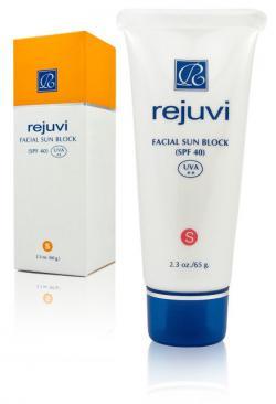 Солнцезащитный крем для лица (телесный) - Facial Sun Block Tinted (SPF 40) / 65 мл / Rejuvi
