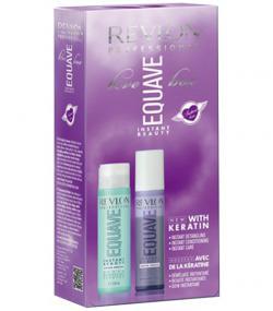 Подарочный набор для ухода за блондированными волосами Equave Instant Beauty Keratin Enriched Blond Love Box Revlon Professional