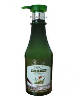 Шампунь для сухих и окрашеных волос с оливковым маслом и медом / 750 мл / Shemen Amour