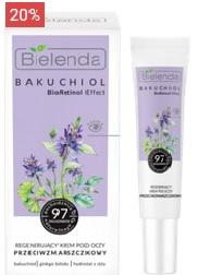 BIELENDA BAKUCHIOL BioRetinol Effect Регенерирующий крем против морщин для глаз, 15 мл
