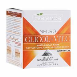 BIELENDA NEURO GLICOL+VIT.C Увлажняющий крем активатор блеска и молодости кожи SPF 20 дневной 50мл