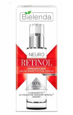 Сыворотка для лица Bielenda NEURO RETINOL Нейтропепридная омолаживающая дневная/ночная, 30мл