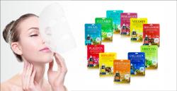 Набор Корейские тканевые маски для лица 10 шт