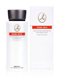 Молочко жемчужное для очистки и снятия макияжа / 120 мл / Lambre