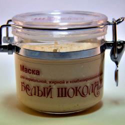 """Маска """"Белый Шоколад"""" для нормальной, жирной и комбинированной кожи / 150 гр / Шоконат"""
